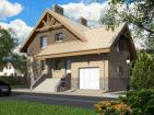 Проект одноэтажного дома с мансардой  и подвалом